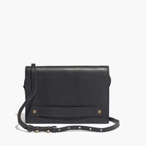 Madewell Morgan Black Leather Crossbody Bag